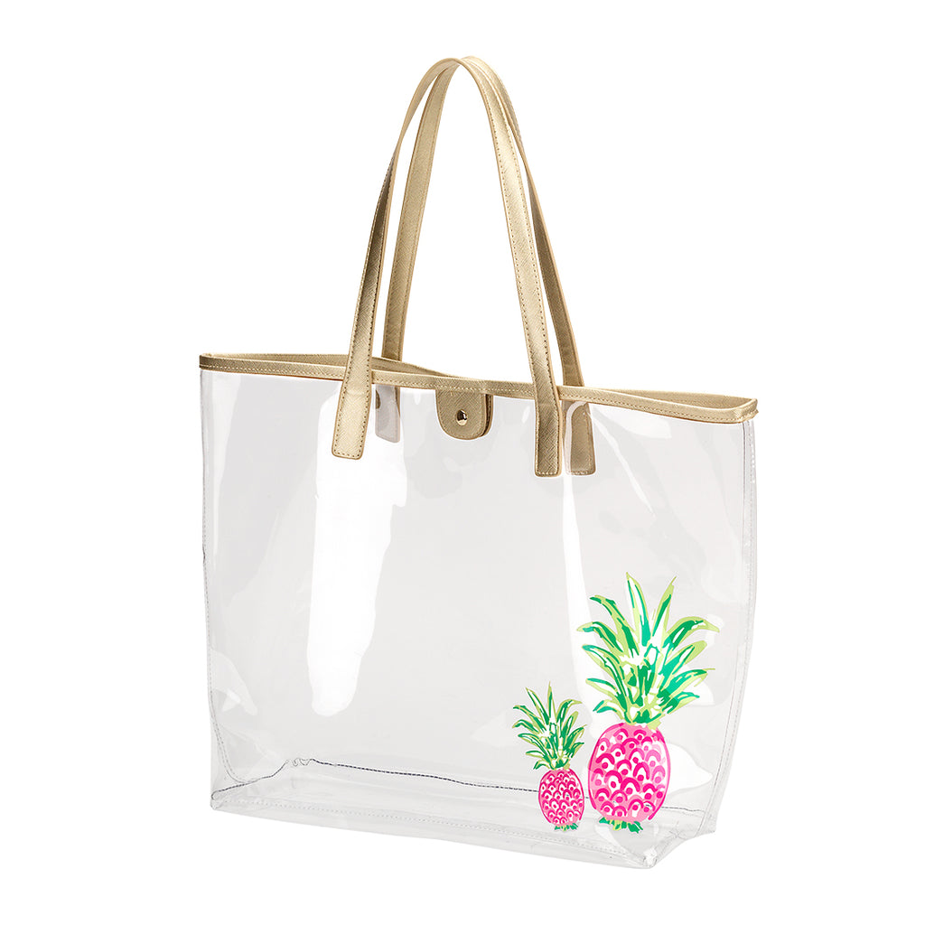 Large Clear Beach Bag - Pineapple