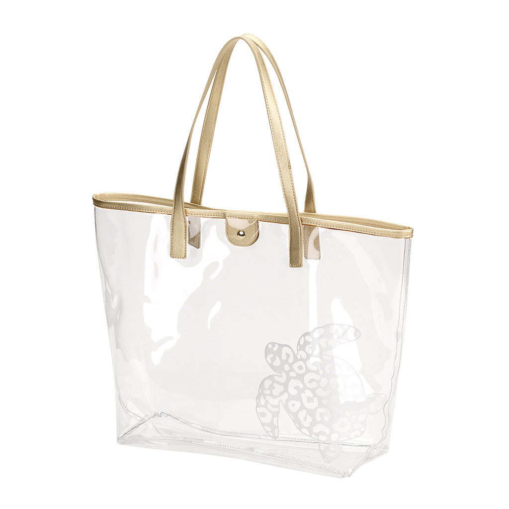 Large Clear Beach Bag - Sea Turtle