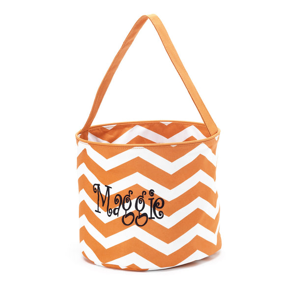 Personalized Kids Halloween Trick or Treating Bag Bucket Candy Tote - Gifts Happen Here - 3