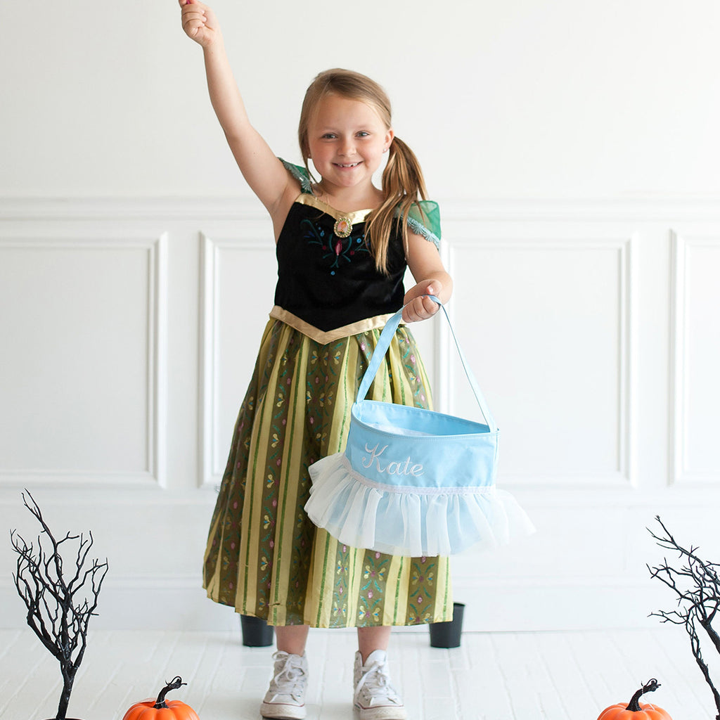Personalized Trick or Treat Halloween Buckets - Blue Tutu
