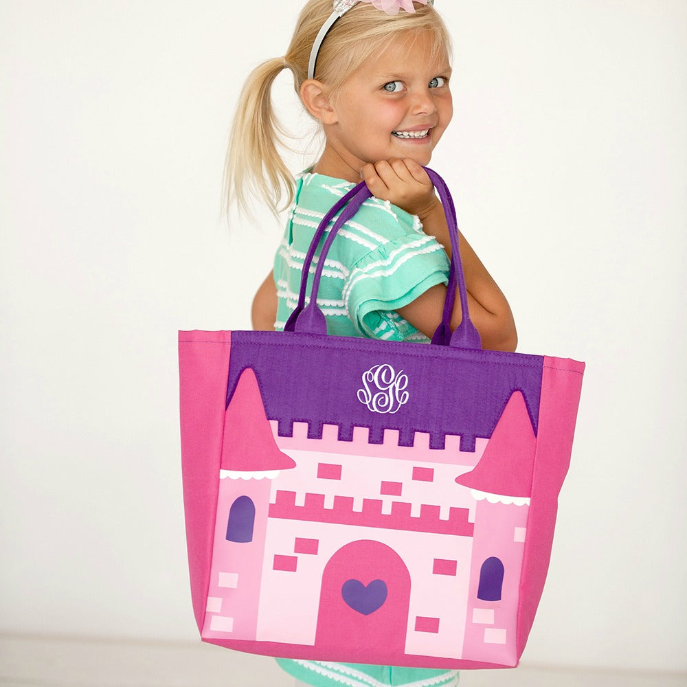 Personalized Halloween Bag Trick or Treat Sack - Princess Castle