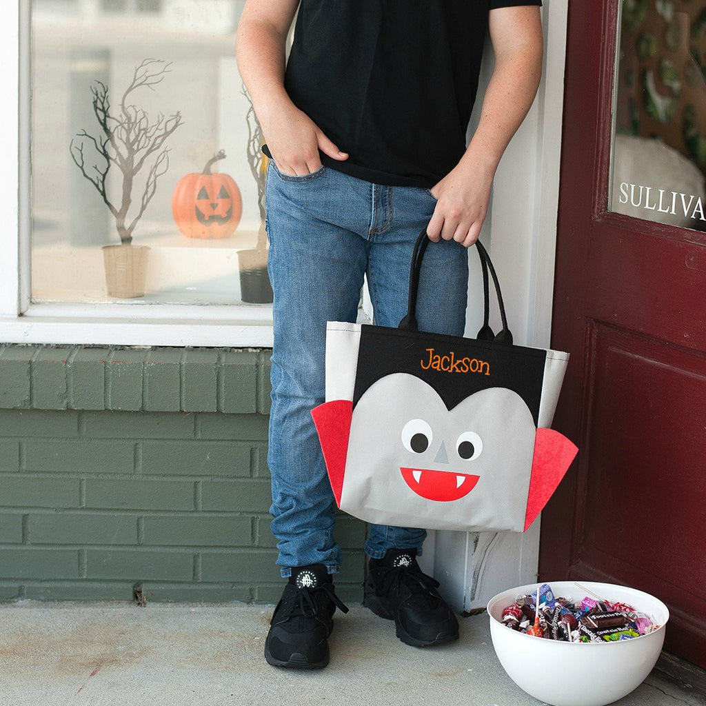 Personalized Halloween Bag Trick or Treat Sack - Vampire