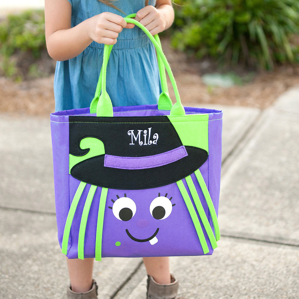 Personalized Halloween Bag Trick or Treat Sack - Witch