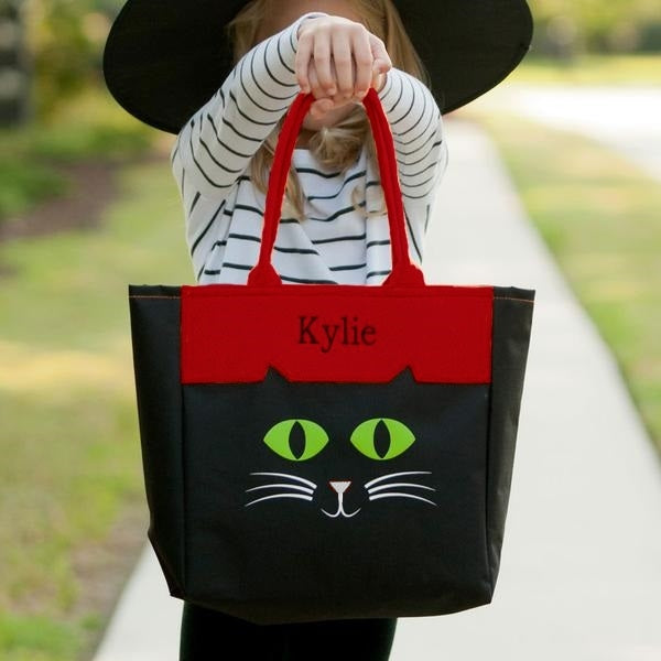 Personalized Trick or Treat Bag Halloween Tote