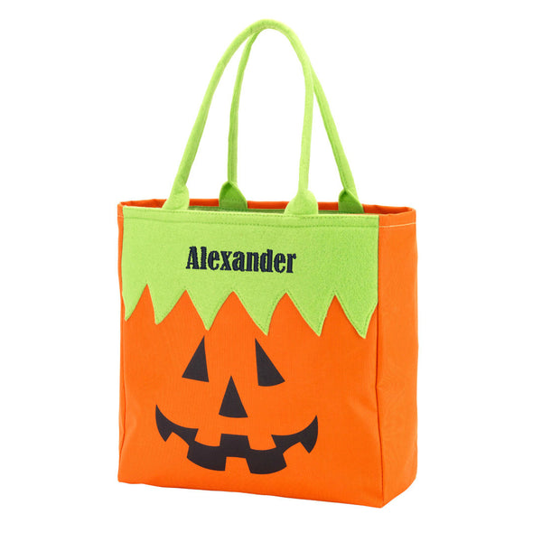 Personalized Name Halloween Bag Trick or Treat Sack - Gifts Happen Here - 3