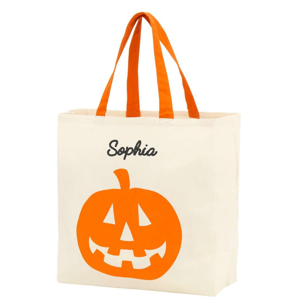 Personalized Trick or Treat Bags - Kids Halloween Tote