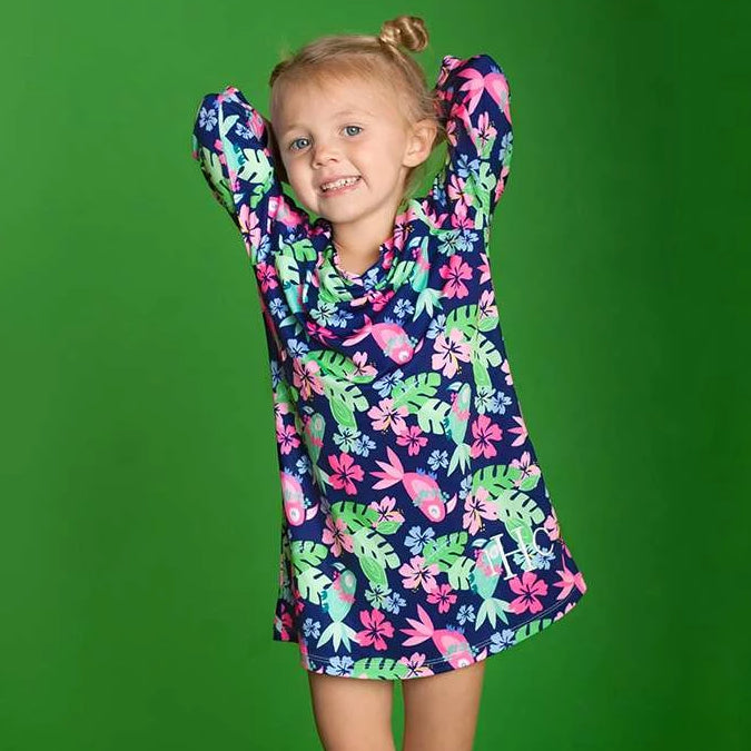 Personalized Girls Tunic - Beach Coverup - Tropi-cool