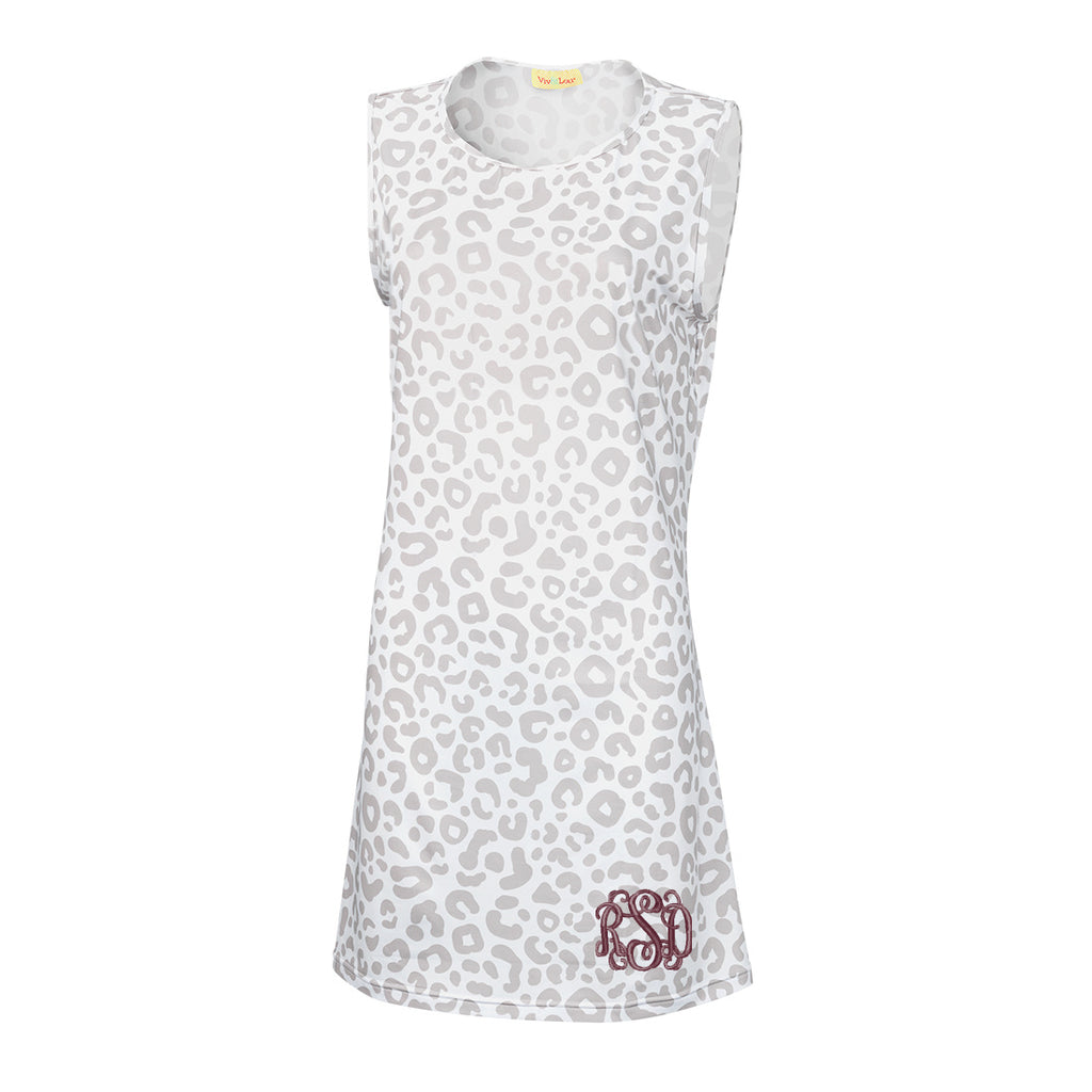 Womens Monogrammed Dress - Sleeveless