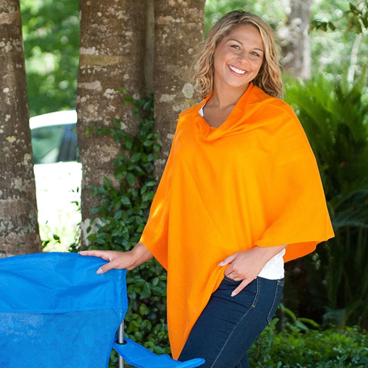Personalized Pashmina Poncho - Orange