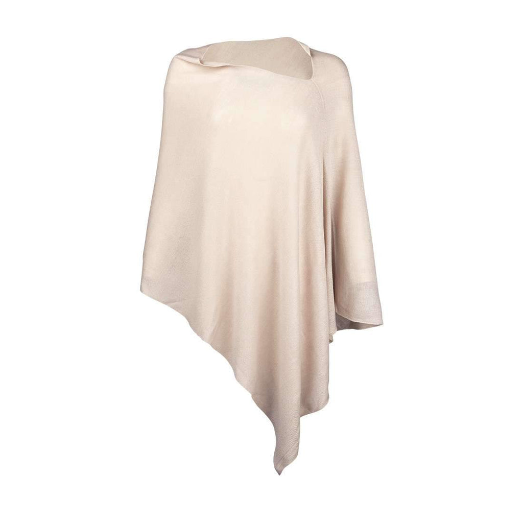 Personalized Pashmina Poncho - Cream