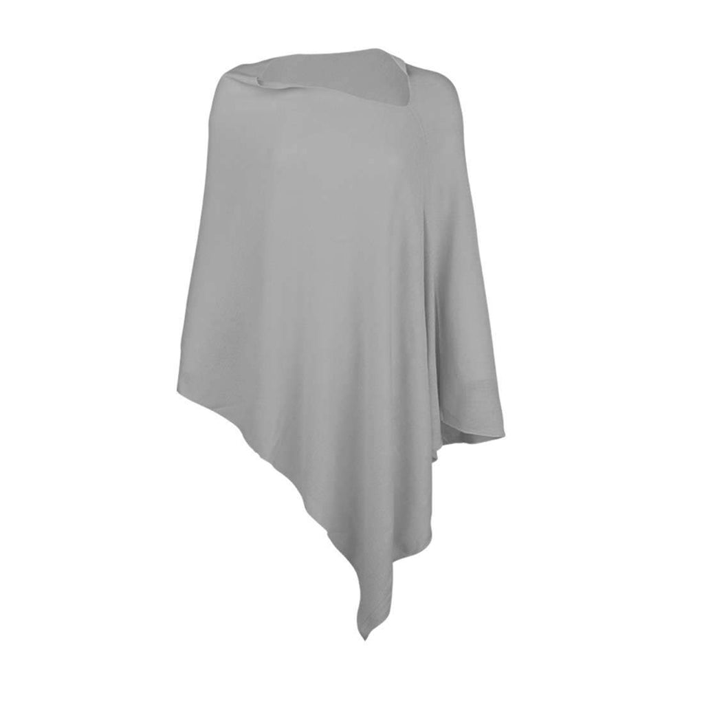 Personalized Pashmina Poncho - Grey