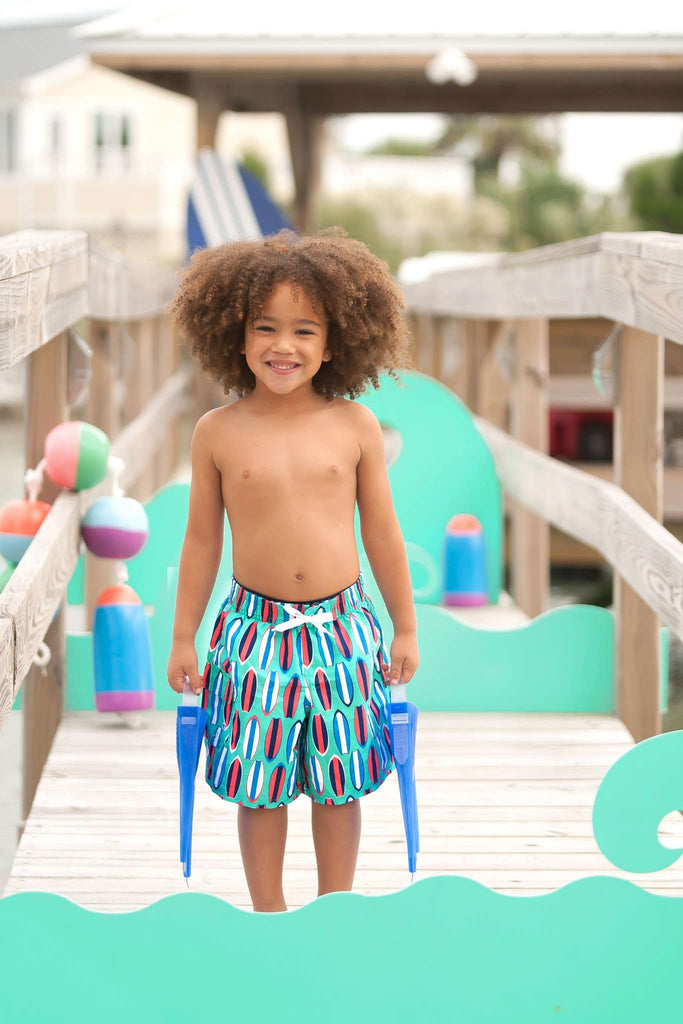 Personalized Boys Swim Trunks Shorts