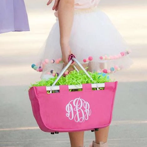 Personalized Small Market Basket - Pink