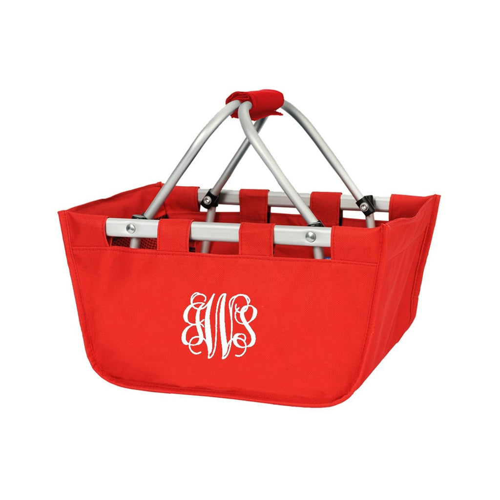 Personalized Small Market Basket - Red