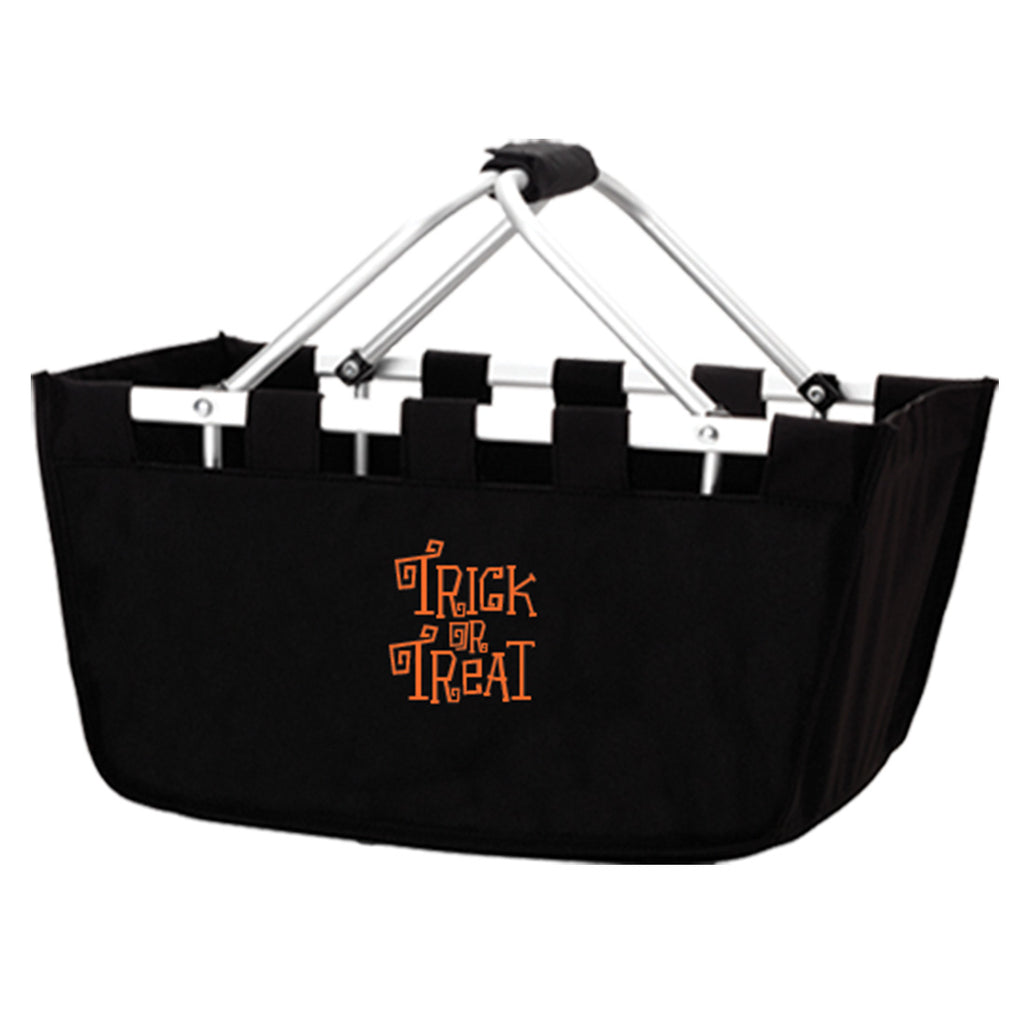 Trick or Treat Black Market Basket - Halloween Tote