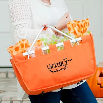Wickedly Sweet Orange Halloween Market Tote