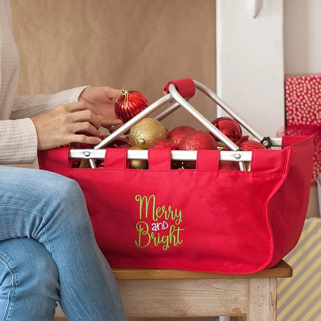 Merry & Bright Christmas Market Tote