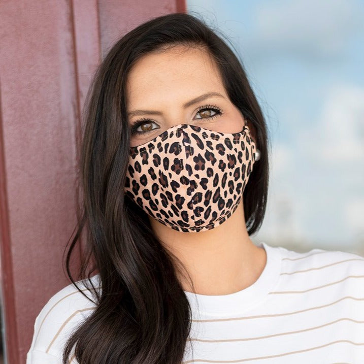 Leopard Face Mask - Adjustable