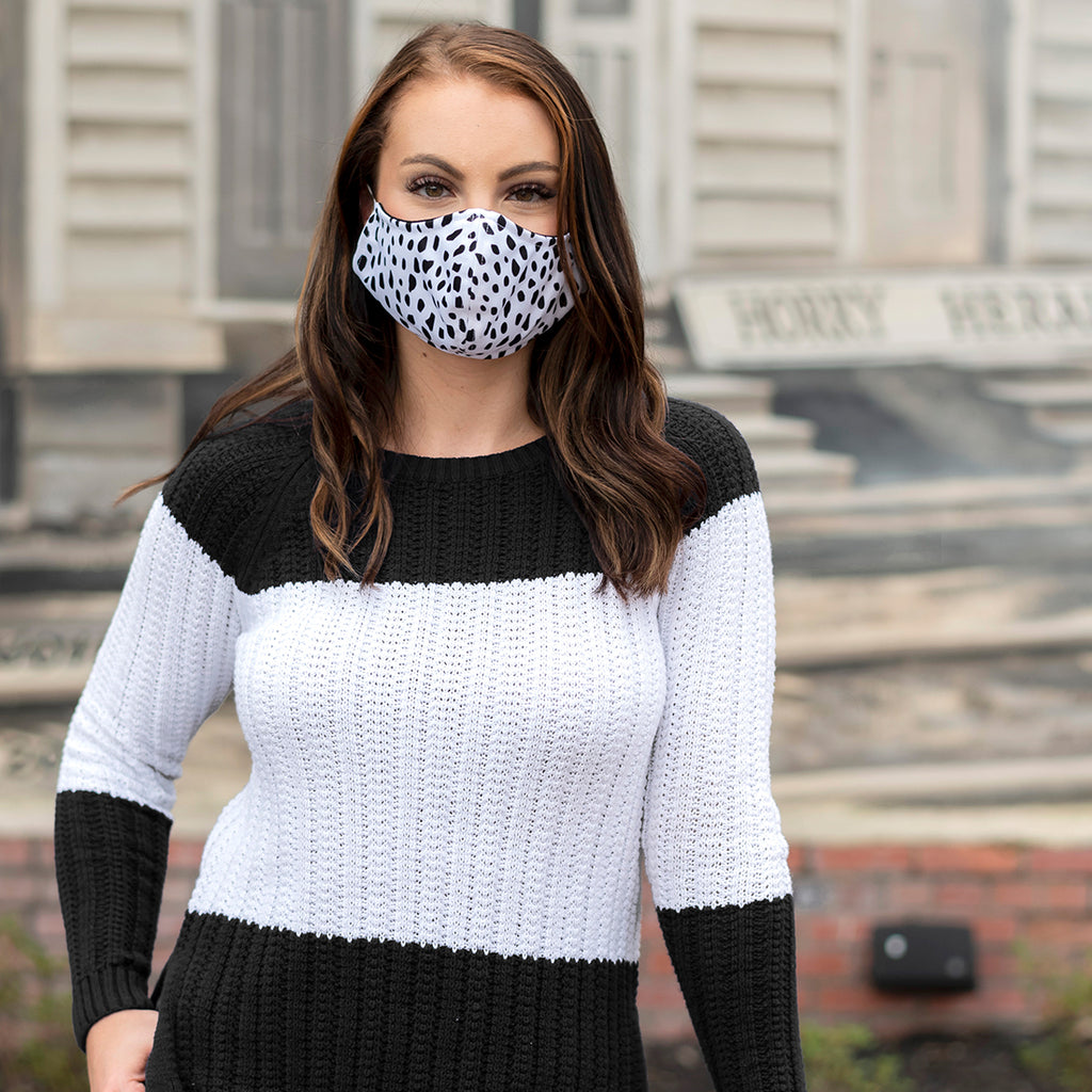 Face Masks for Adults - Adjustable - Patterned Fabric
