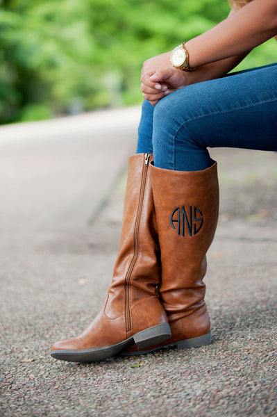 Monogrammed Boots Personalized Brooklyn Black Brown - Gifts Happen Here - 13