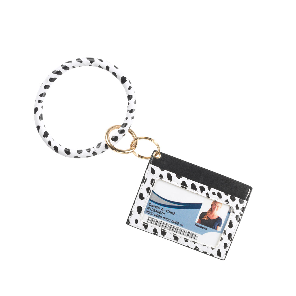 Fashion ID & Card Holder Keychain Bracelet - Animal Prints - Spots