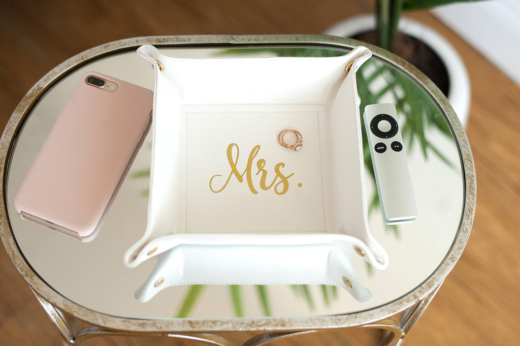 Inspirational Gift Gold Foil Jewelry Tray
