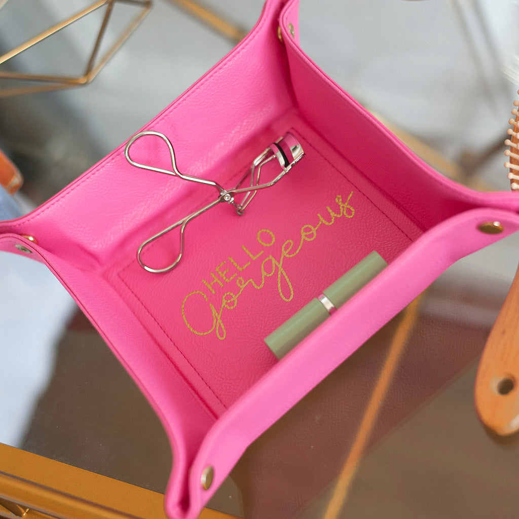 Hot Pink Hello Gorgeous Jewelry Tray