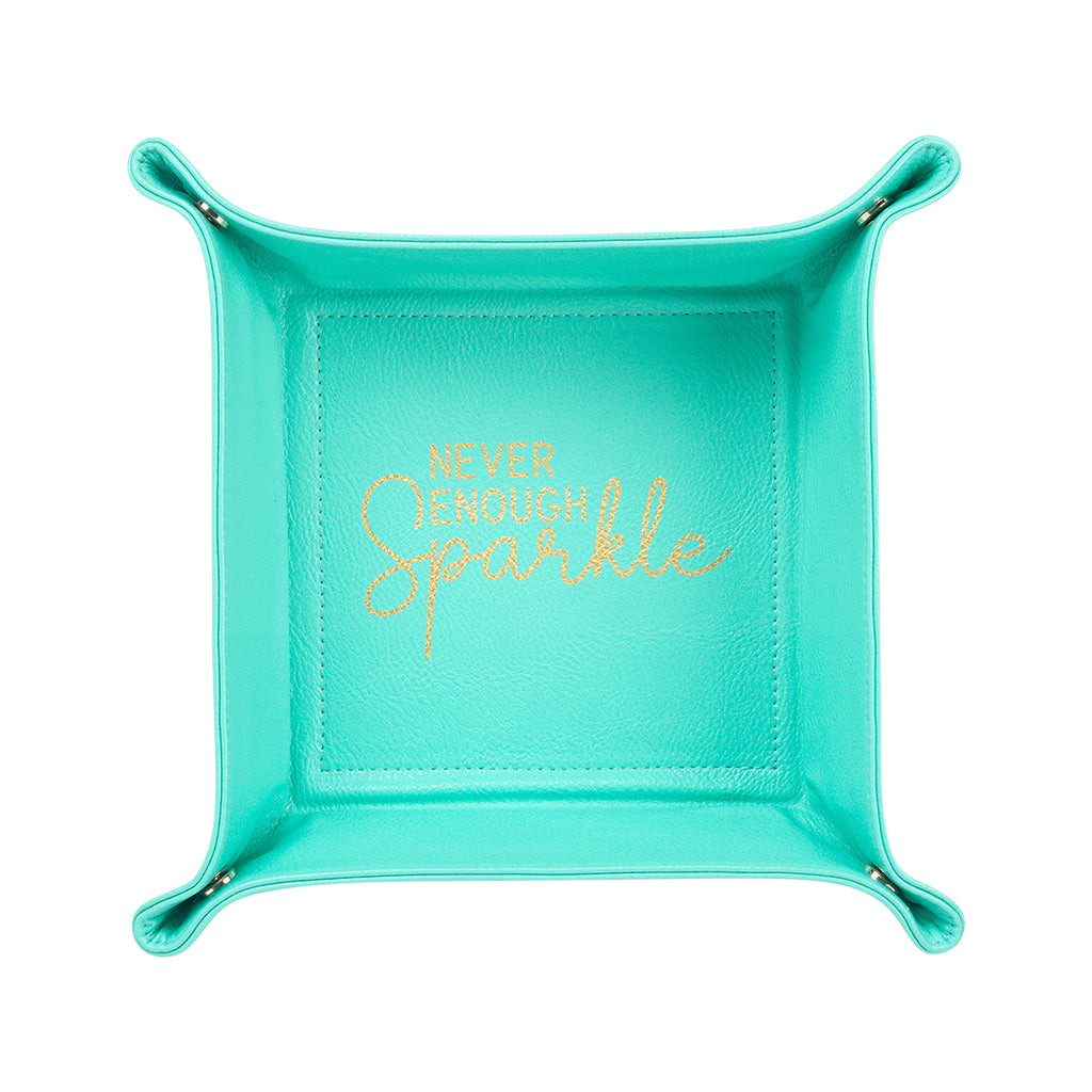 Mint Never Enough Sparkle Jewelry Tray