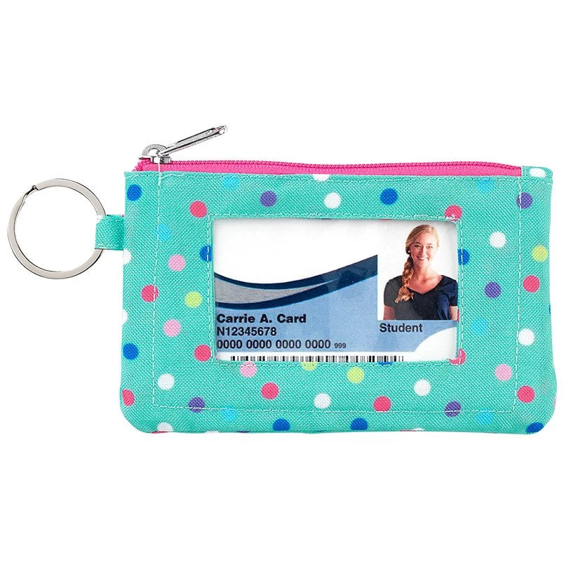Fashion ID Case & Keyring - Mint Polka Dot