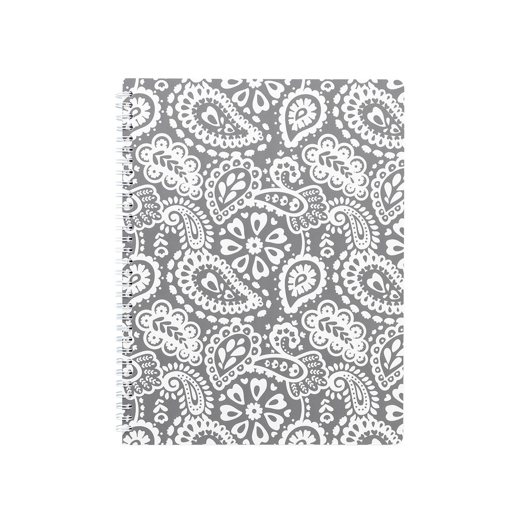 Pattern Spiral Bound Notebook - Wide Ruled