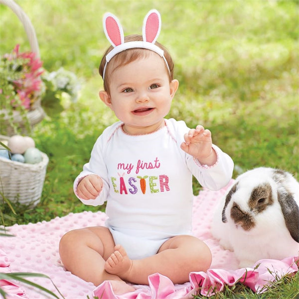 My First Easter Onesie Crawler Shirt & Bunny Ears - Gifts Happen Here - 1