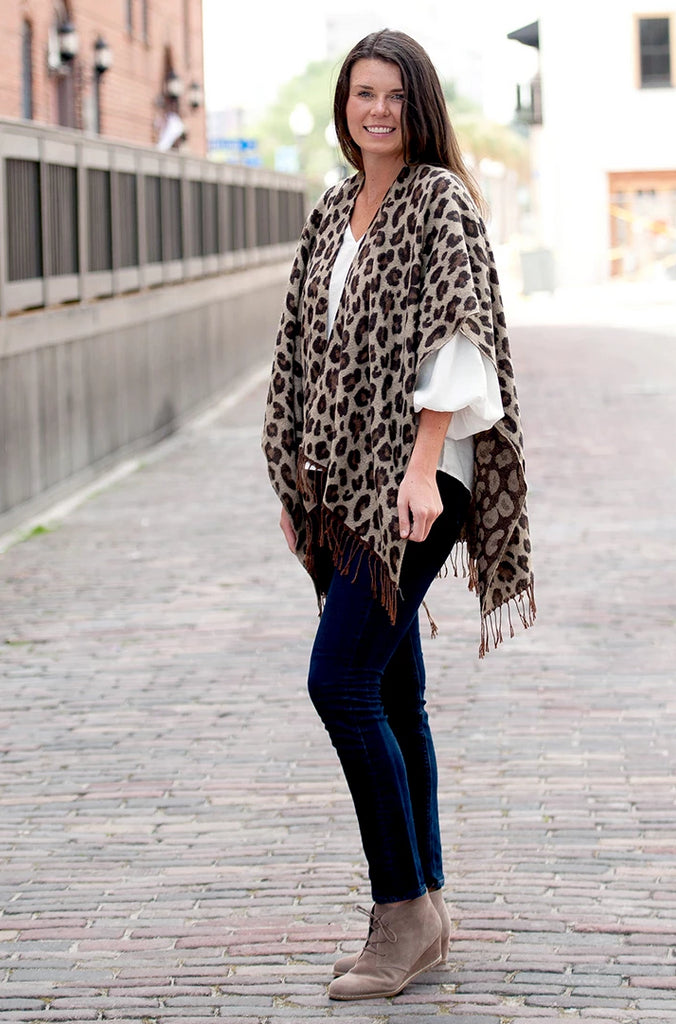 Personalized Leopard Shawl