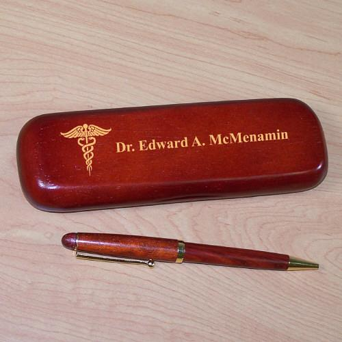 Personalized Medical Rosewood Pen Set