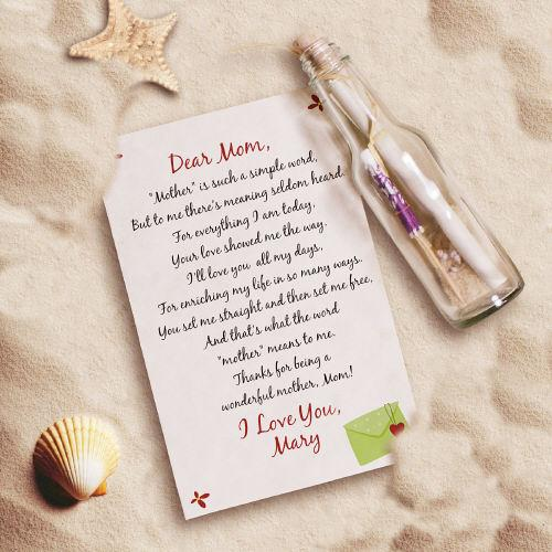 Personalized Mother's Day Message In A Bottle
