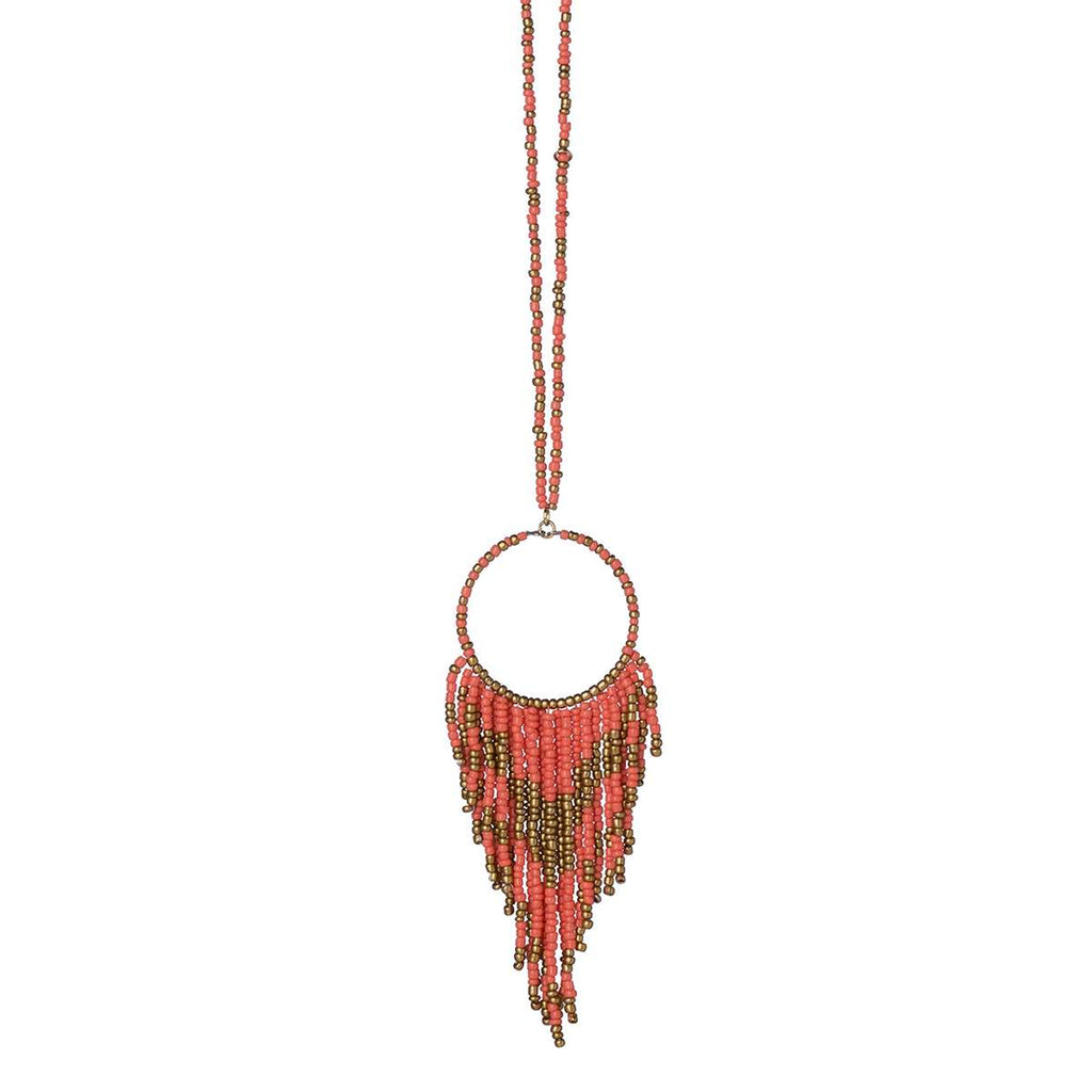 Seed Bead Fringe Necklaces