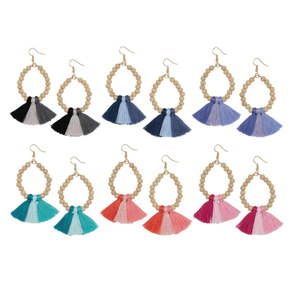 Ombre Fan Earrings