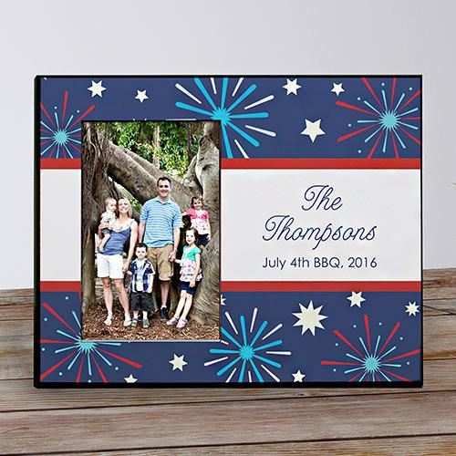 Personalized Fourth Of July Printed Frame