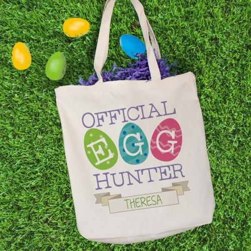 Personalized Official Egg Hunter Tote Bag