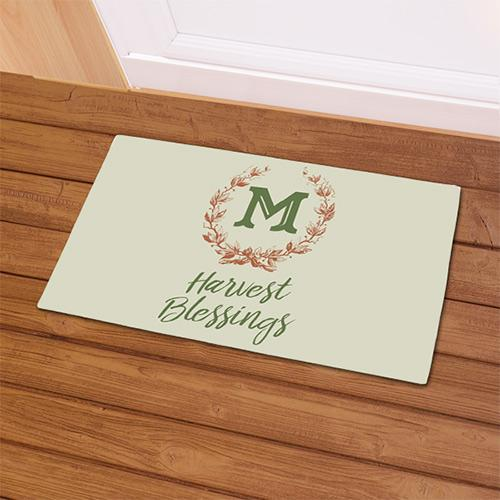 Personalized Harvest Blessings Doormat
