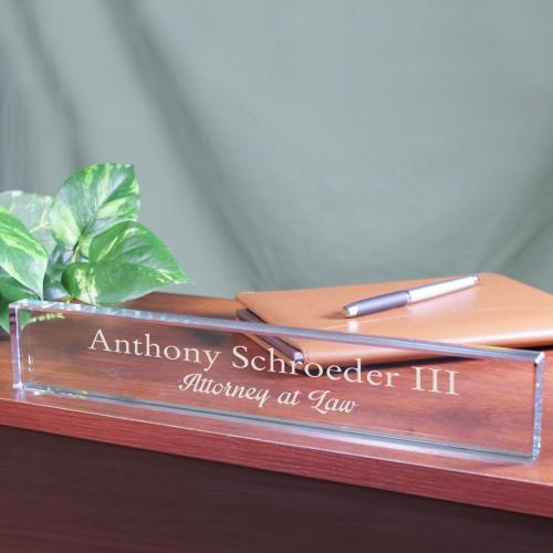 Personalized Engraved Desk Name Plate