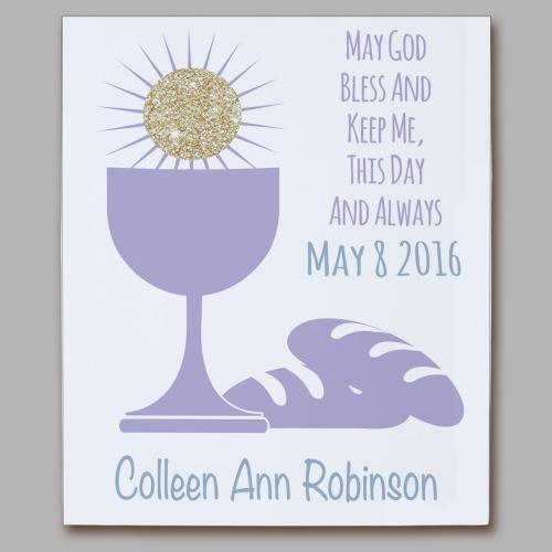 Personalized First Communion Eucharist Wall Canvas