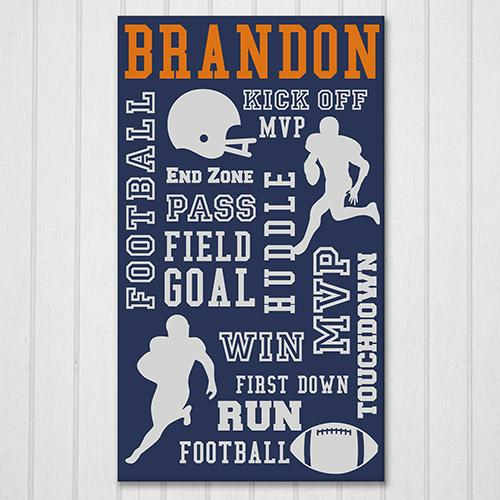 Personalized Football Word-Art Canvas