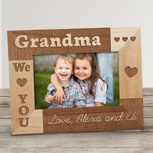 Personalized I Love Grandma Frame