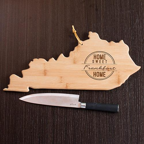Personalized Home Sweet Home Kentucky State Cutting Board