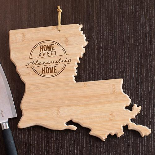 Personalized Home Sweet Home Louisiana State Cutting Board