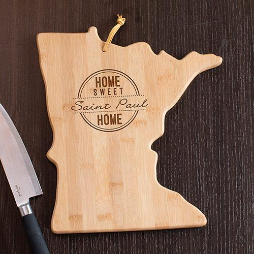 Personalized Home Sweet Home Minnesota State Cutting Board