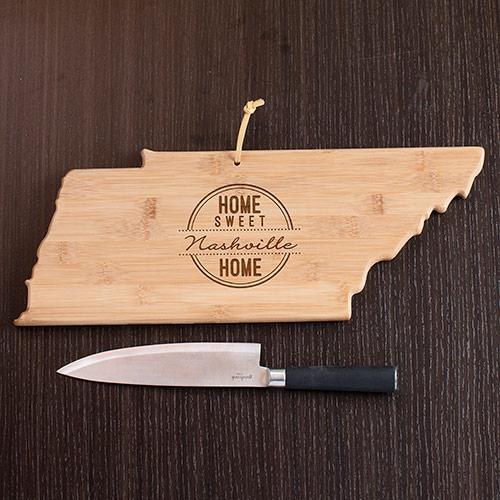 Personalized Home Sweet Home Tennessee State Cutting Board
