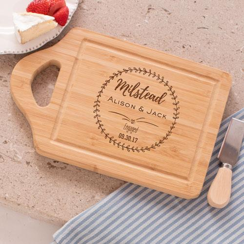 Personalized Engraved Engagement Cutting Board