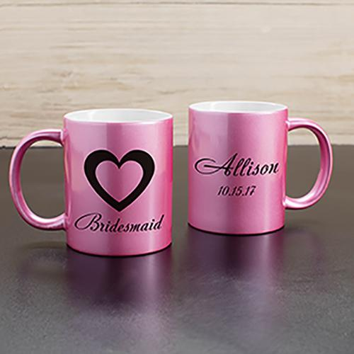 Personalized Bridal Party Metallic Mug