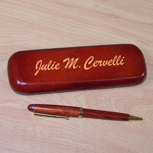 Personalized Rosewood Pen Set